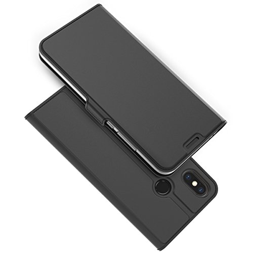 TOTOOSE Xiaomi Mi 8 Explorer Wallet Case, Stylish Slim PU Leather Phone Case Slim Stand and Card Holders Wallet Phone Cover Flap Protective Case for Xiaomi Mi 8 Explorer -Black