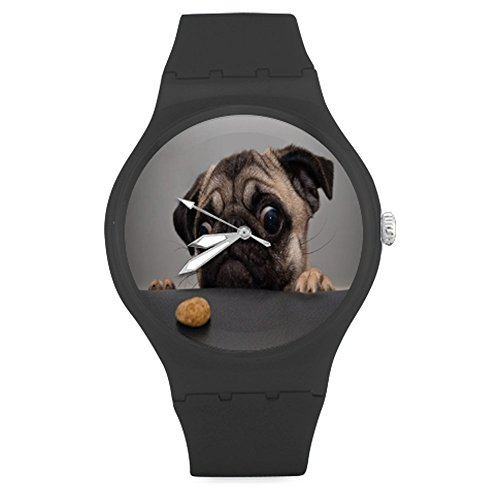 funny-lovely-pug-puppy-sadness-look-cookies-unisex-round-rubber-sport-watchwatch-face-diameter-158