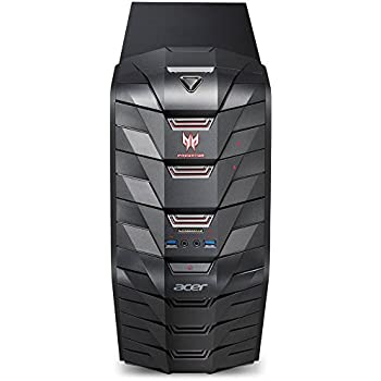 Acer Predator AG3-710 Gaming Desktop Computer, Intel Quad-Core i5-6400 2.7GHz, 8GB Memory, 128GB M.2 SSD + 1TB HDD, NVIDIA GeForce GTX 1060 3GB DDR5 Graphics, DVDRW, 802.11ac, Bluetooth, Windows 10