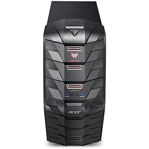 Acer Predator AG3-710 Gaming Desktop Computer, Intel Quad-Core i5-6400 2.7GHz, 8GB Memory, 128GB M.2 SSD + 1TB HDD, NVIDIA GeForce GTX 1060 3GB DDR5 Graphics, DVDRW, 802.11ac, Bluetooth, Windows (Acer Edge)