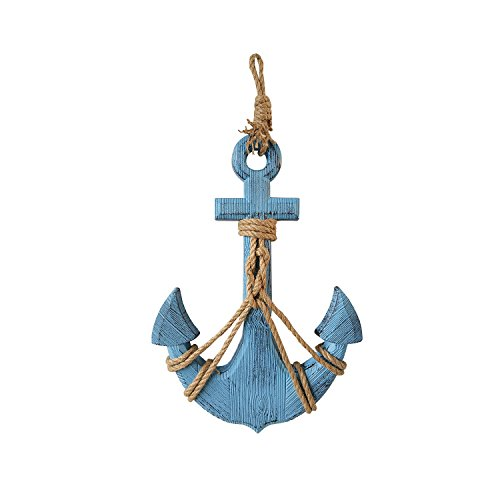 Attraction Design Wood Anchor Wall Hanging Plaque Nautical Sea Shore Ocean Beach Decor (Outdoor Anchor Decor)