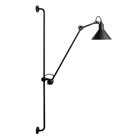 poste Lámparas de pared LEDhierro Negro largo ajustable de zpGqUMVS