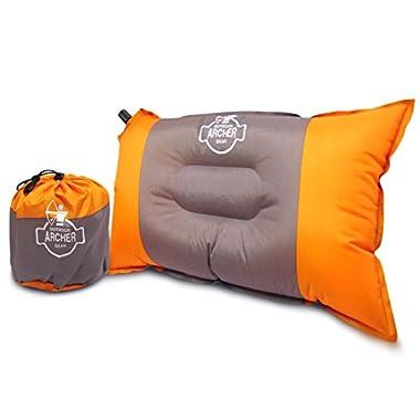 Archer Outdoor Gear Self Inflating Camping Air Pillow, Rectangular, 20  L X 12  W