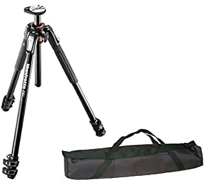"""Manfrotto MT190XPRO3 3 Section Aluminum Tripod Legs with Q90 Column w/ Calumet 35"""" Carrying Case …"""