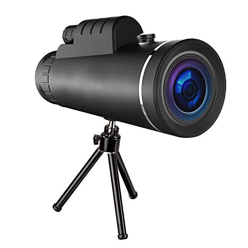 Monocular Telescope - High Powered and Waterproof HD Spotting Scope - with Smartphone Tripod Included - Ideal for Sightseeing, Hunting, Wildlife
