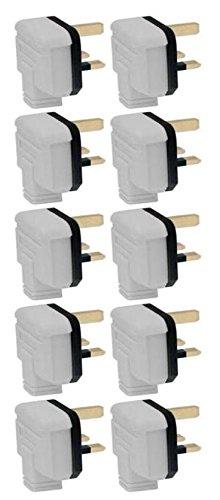 Permaplug Black Heavy Duty Plug Top 13A 13 Amp Fused 3 Pin Pack of 5