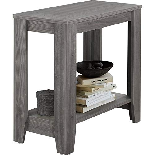 Wood End Table - End Table 4 Tapered Feet - Gray