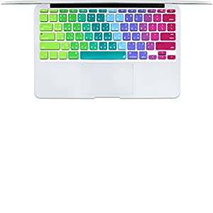 "Masino® Taiwan Traditional Chinese Characters Silicone Keyboard Cover Ultra Thin Keyboard Skin for MacBook Air 11"" (Taiwan Traditional Chinese Characters-Rainbow)"