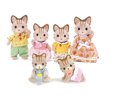 Calico Critters Sandy Cat Family Set with Sandy Cat Twins