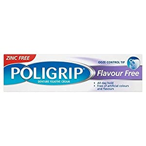 Poligrip Denture Fixative Cream Flavour Free (40g) - Pack of 6 by Poligrip