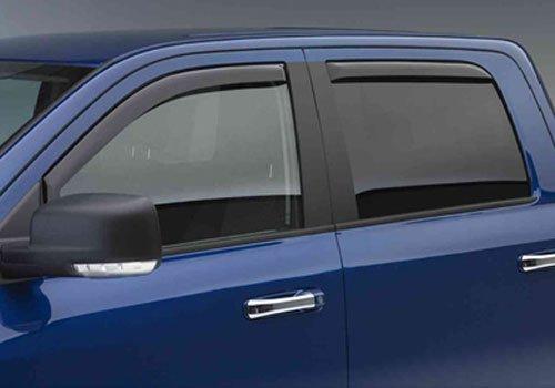 (EGR 572751 In- In-Channel Window Visor (Front and Rear Set Dark Smoke Finish))