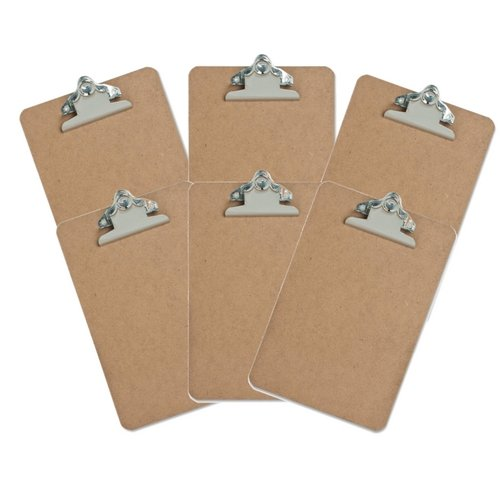 Sparco 6 X 9 Mini Hardboard Clipboard SPR00893 (6 Pack) Sparco Mini