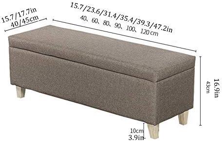 XH&XH Ottoman de Rangement Tabouret de Chaise Ottoman de Rangement Polyvalent Tabouret de lit Gain de Place Polyvalent (Couleur: Vert Taille: 60x40x43cm)