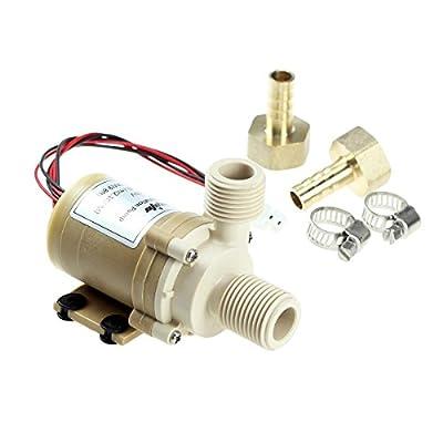 bayite BYT-7A006 DC 12V Solar Hot Water Circulation Pump 8 LPM 2.1 GPM