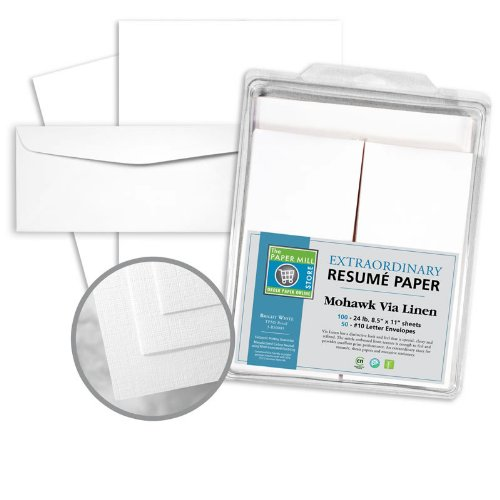 resume paper envelope kit 100 8 5 x 11 sheets 50 4 1
