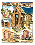 Antique Outhouse Bathroom tin sign #1013