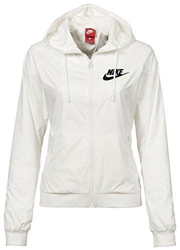 Nike Women's Sportswear Original Windrunner Jacket (White/Black, XS)