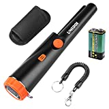 UNIROI Pin Pointer Metal Detector with 9V Battery, IP65 Water-Resistant Metal Detector with Buzzer Vibration Automatic Tuning LED Indicator UD002