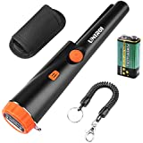 UNIROI UD002 Pinpointer Metal Detector with 9V Battery, IP65 Water-Resistant Treasure Hunting Tool