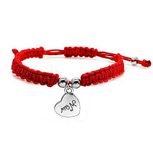 Mikash Lucky Buddhist Knots Rope Bracelet Tibetan Mom Heart Adjustable Gifts | Model BRCLT - 12241 |