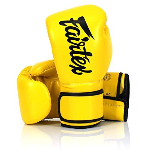 Fairtex Microfibre Boxing Gloves Muay Thai Boxing, MMA, Kickboxing,Training Boxing Equipment, Gear for Martial Art - BGV14, BGV1 Limited Edition, BGV12, BGV11, BGV18 (BGV14 Yellow, 16 oz)