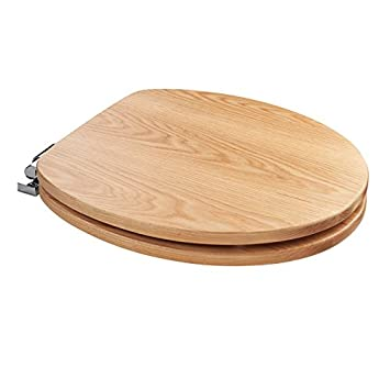 solid wood soft close toilet seat. Toilet Seat Natural Oak Solid Wood Soft Close Oval  Two colour seats available