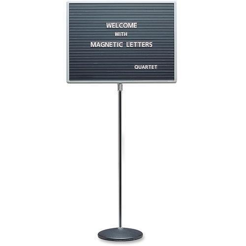 QRT7921M - Quartet Adjustable Single Pedestal Letter Board
