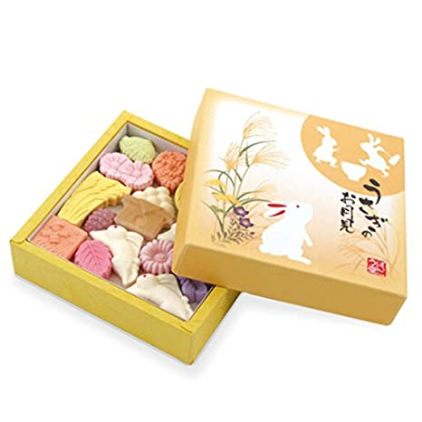 TOKYO MATCHA SELECTION - [Autumn limited] Rabbit in the moon Wasanbon - Wagashi Sugar - Japanese confectionery [Standard ship by SAL: NO Tracking ...