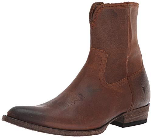 (FRYE Men's Austin Inside Zip Western Boot, Brown, 10.5M M US )