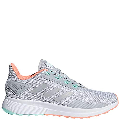 adidas Women's Duramo 9 Running Shoe, Grey/Chalk Coral, 9 M US