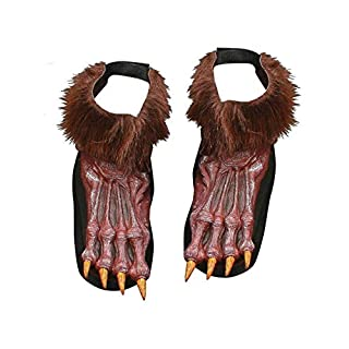 Silver Werewolf Shoe Covers Costume
