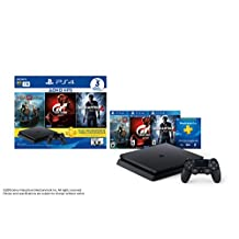 PlayStation 4 Hits Bundle, 1 TB, Paquete de 3 juegos: God of War, Uncharted 4, GTSport - Standard Edition
