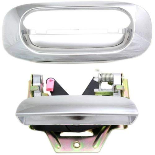 Tailgate Handle Compatible with DODGE Dakota 1997-2011 / Raider 2006-2009 Tailgate Handle Lever and Bezel All Chrome Dodge Dakota Tailgate Handle