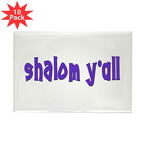 (CafePress Jewish Shalom Y'all Rectangle Magnet, 2