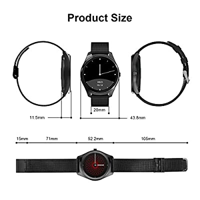 Diggro Bluetooth Smart Watch DI02 DI03 MTK2052C Heart Rate Monitor Pedometer Sleep Monitor Microphone Speaker Siri for Android iOS from Diggro