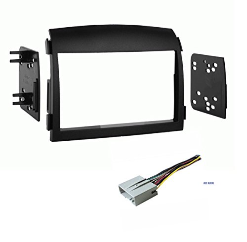 Car Stereo Dash Kit and Wire Harness for Installing a Double Din Aftermarket Radio for 2006 2007 2008 Hyundai Sonata
