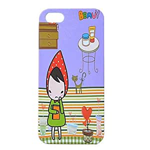 HP Cartoon Little Girl Pattern Plastic Case for iPhone5/5S