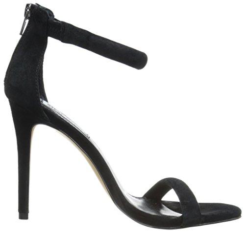 Chaussures à à Fancci Bride Cheville Talons Femme Steve Madden Noir Suede la avec wq8x4xIta