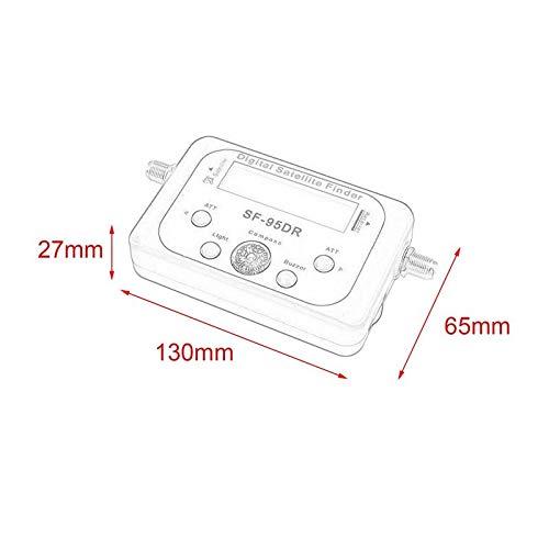 Digital Displaying Satellite Finder Meter Satfinder TV Signal Receiver Decoder Satlink Receptor Buzzer Compass LCD FTA Dish