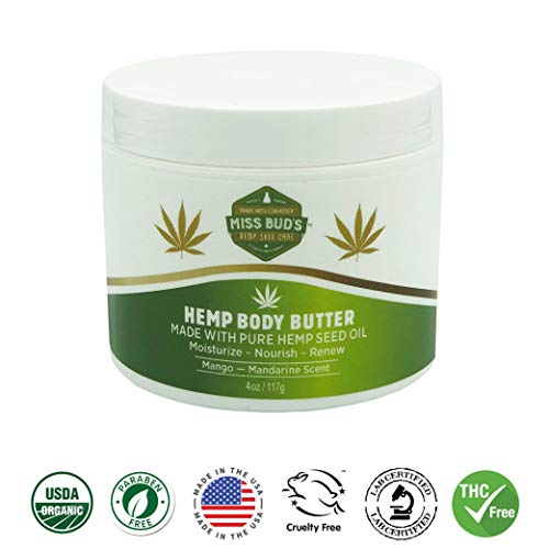 (Miss Bud's Hemp Body Butter Moisturize & Nourish Skin Made from Pure Hemp Seed Oil)