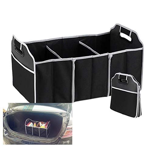 Non-Slip Secure Travel Tote BLACK Heavy Duty Collapsible Storage Box Car Boot Maintenance Candybar Car Boot Organiser