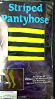 Striped Pantyhose Lime Green and Black One Size Fits all