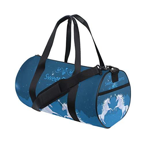 HELVOON Sweet Dreams Galaxy Unicorn Horse Sports Gym Travel Weekender Duffel Bag for Women and Men