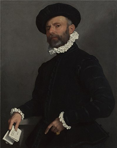 [Oil Painting 'Giovanni Battista Moroni Portrait Of A Man Holding A Letter (L'Avvocato) ' Printing On High Quality Polyster Canvas , 30 X 38 Inch / 76 X 96 Cm ,the Best Wall Art Artwork And Home Artwork And Gifts Is This Reproductions Art Decorative Canvas] (Gorilla Holding Man Costume)