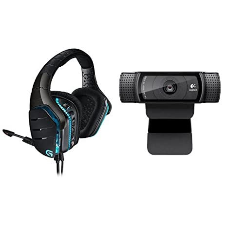 Logitech G633 Gaming Headset + Logitech HD Pro Webcam C920 Streaming Bundle