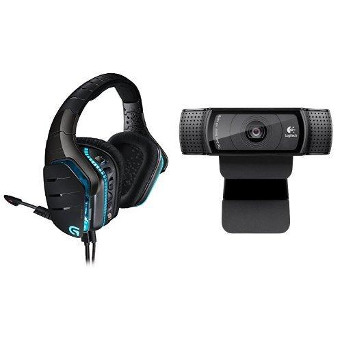 Logitech G633 Gaming Headset + Logitech HD Pro Webcam C92...