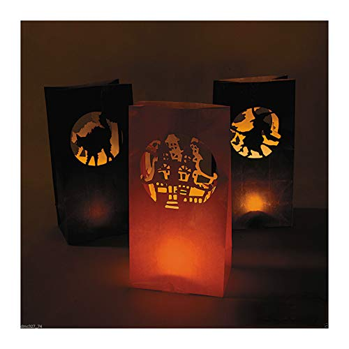 PopularTrendz 12 Halloween Party Decoration Pathway Walkway Paper Silhouette Luminary Bags