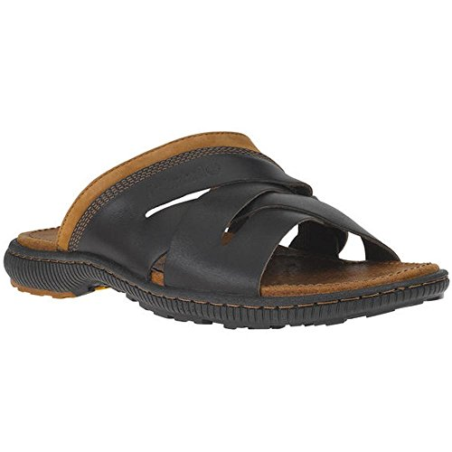 Timberland Men's EK Hollbrook Slide Gladiator Sandal, Dark Brown, 10 M US