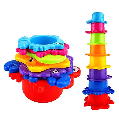 TOP Toy Toys for 2 Year Old Boy Rainbow Stacking & Nesting Cups Toys for 1-3 Year Old Boys Toys for 1-3 Year Old Boys Gifts for 1-3 Year Old ()