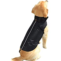Downtown Pet Supply Water Resistant Dog Jacket, Fleece Lined, Warm, Dog Accessory, for Small, Medium & Large Pet Dogs (Black, X-Small)
